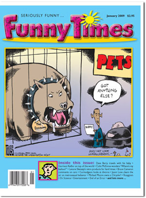 Funny Times January 2009 issue cover