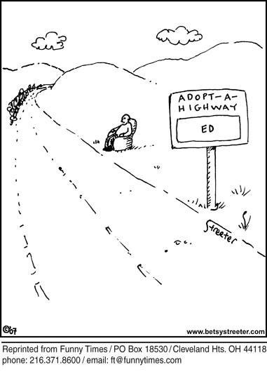 Funny streeter ethics highway  cartoon, February 04, 2009