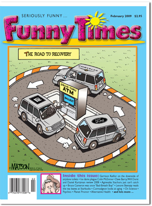 Funny Times February 2009 issue cover