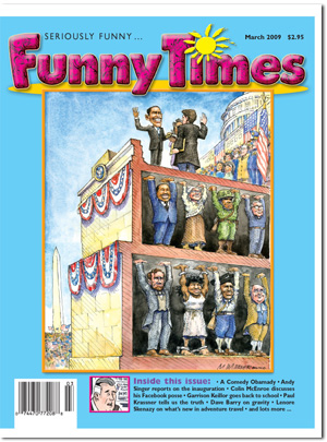 Funny Times March 2009 issue cover