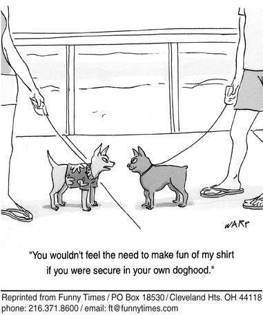 Funny dogs warp psychology  cartoon, April 08, 2009