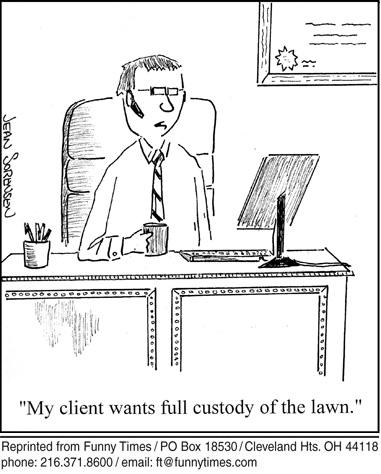 Funny sorensen funny divorce cartoon, April 15, 2009