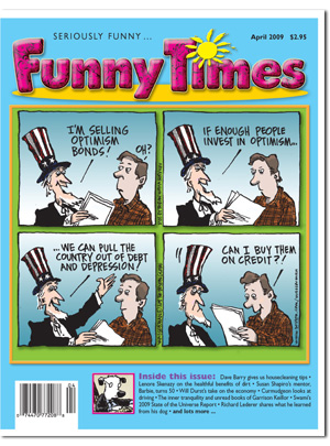 Funny Times April 2009 issue cover