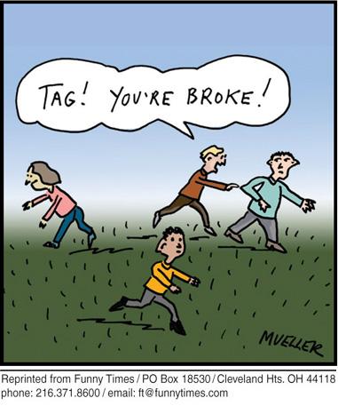 Funny mueller summer money  cartoon, May 06, 2009