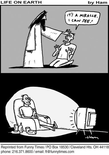 Funny religion television school cartoon, May 20, 2009
