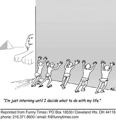 Funny work religion pyramid  cartoon, May 27, 2009