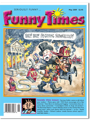 Funny Times May 2009 issue cover