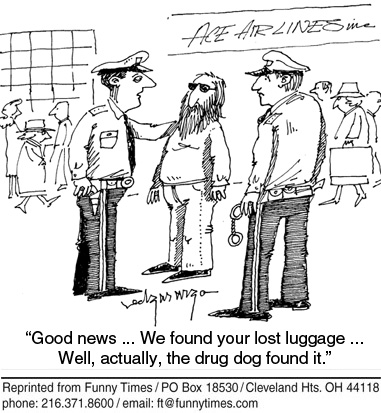 Funny dog change airport  cartoon, June 10, 2009