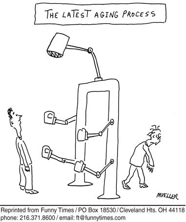 Funny mueller machine service  cartoon, June 17, 2009