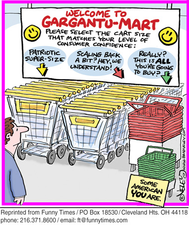 Funny veley cart confidence  cartoon, July 15, 2009