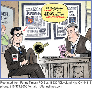Funny communication funny layoff  cartoon, July 29, 2009