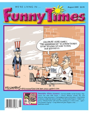 2009 August Funny Times cover