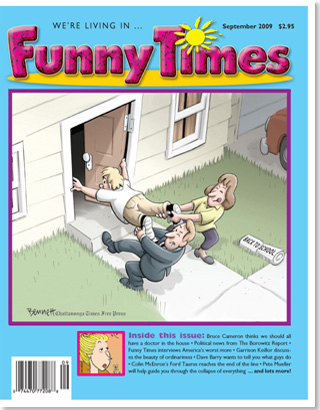 Funny Times September 2009 issue cover