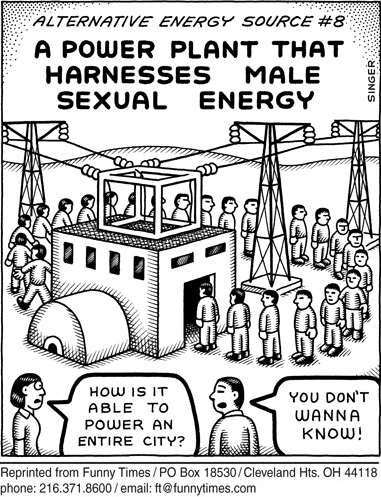 Funny singer energy power cartoon, October 07, 2009