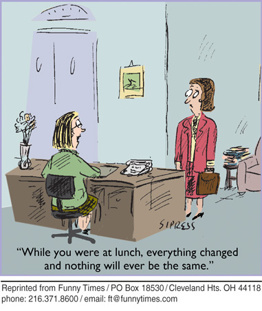 Funny office Sipress change  cartoon, November 18, 2009