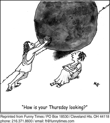 Funny rock down gradisher  cartoon, December 16, 2009