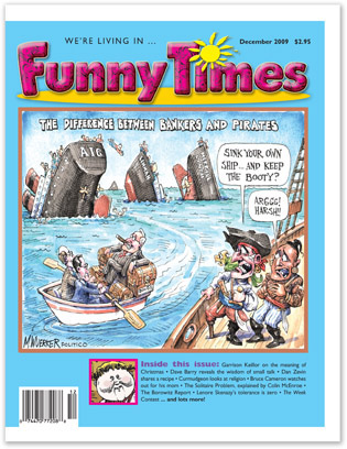 Funny Times December 2009 issue cover