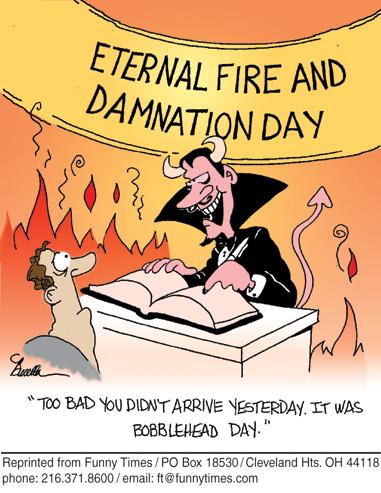 Funny rights devil communication  cartoon, January 06, 2010