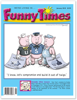 Funny Times January 2010 issue cover