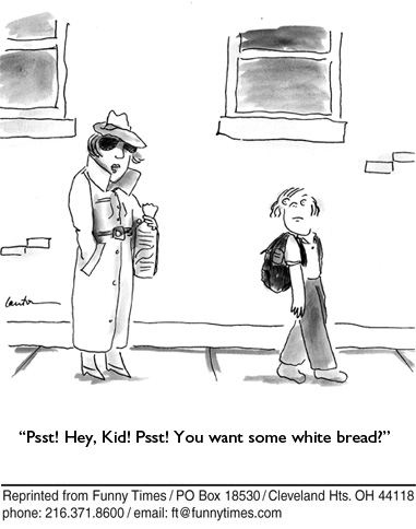 Funny food kids school  cartoon, February 17, 2010