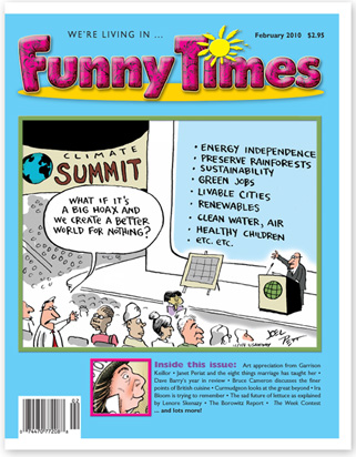 Funny Times February 2010 issue cover