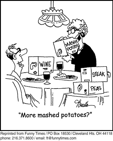 Funny food cooking dinner cartoon, March 17, 2010
