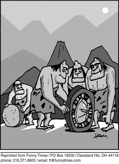 Funny caveman history hospital  cartoon, May 05, 2010