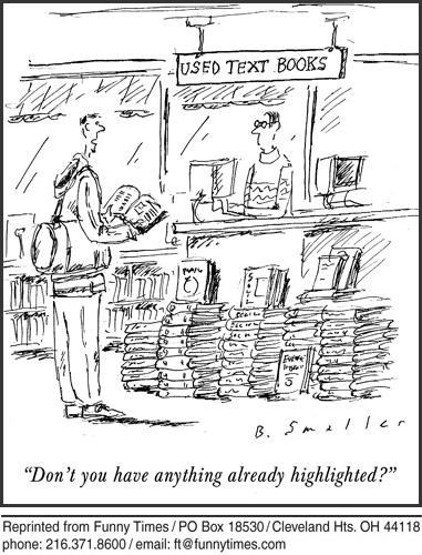 Funny reading school big cartoon, June 16, 2010