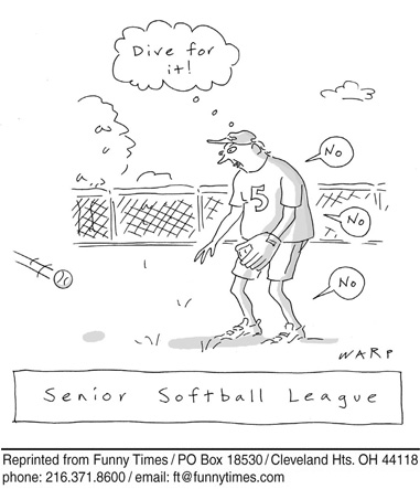 Funny sports warp aging  cartoon, August 04, 2010