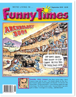Funny Times September 2010 issue cover