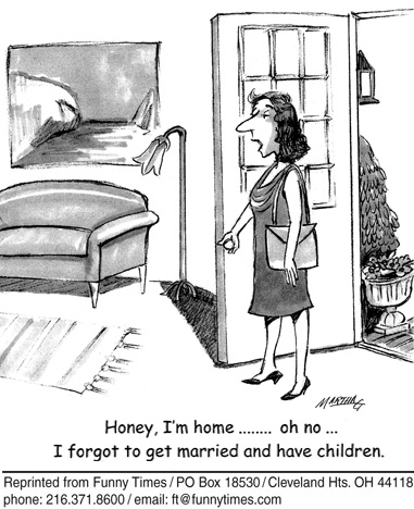 Funny marriage human children  cartoon, October 13, 2010