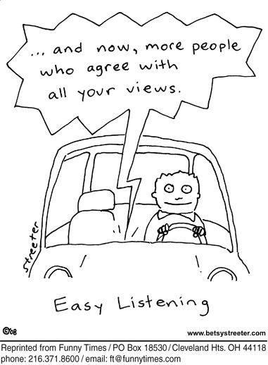 Funny politics radio media cartoon, October 27, 2010