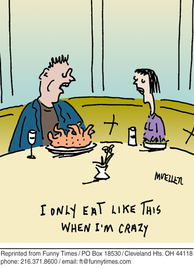 Funny food talking dog cartoon, November 17, 2010