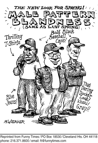 Funny wuerker norman clothes cartoon, November 24, 2010
