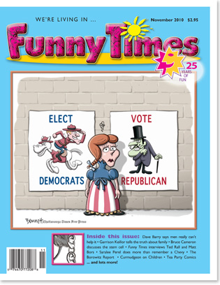 Funny Times November 2010 issue cover