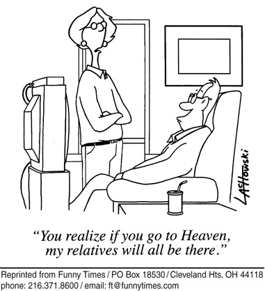 Funny marriage religion family  cartoon, December 22, 2010