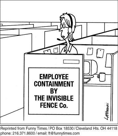 Funny work employees big  cartoon, December 29, 2010