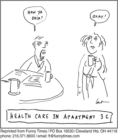 Funny coffee health household  cartoon, February 16, 2011