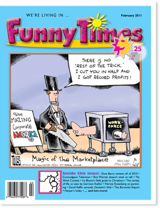Funny Times February 2011 Issue Cover