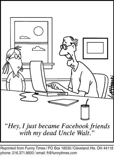 Funny food computer death cartoon, April 20, 2011