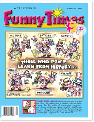Funny Times April 2011 Issue cover