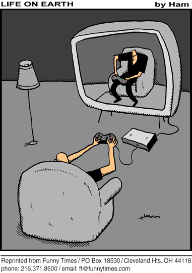 Funny television right technology  cartoon, May 25, 2011