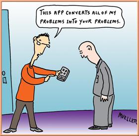 Mueller - iProblem Problem App cartoon