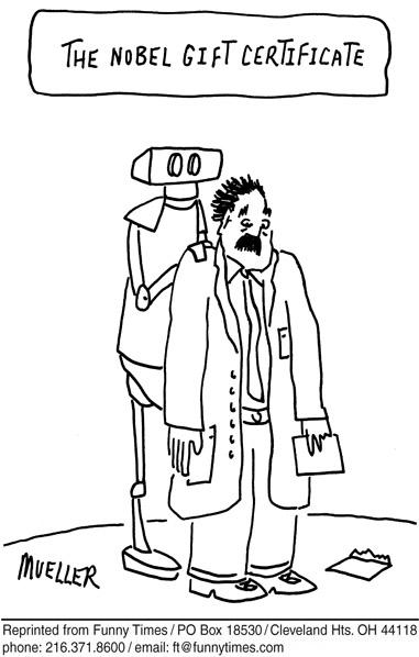 Funny plato university robot  cartoon, June 08, 2011