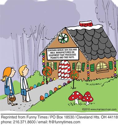 Funny food story gingerbread cartoon, June 15, 2011