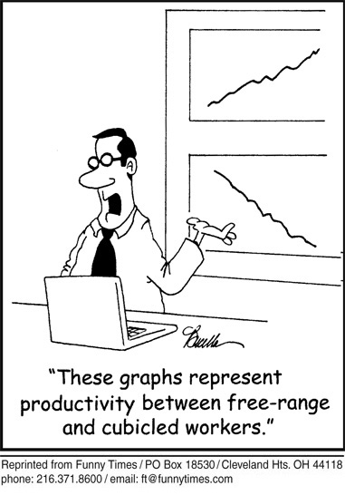 Funny work graph business cartoon, July 13, 2011