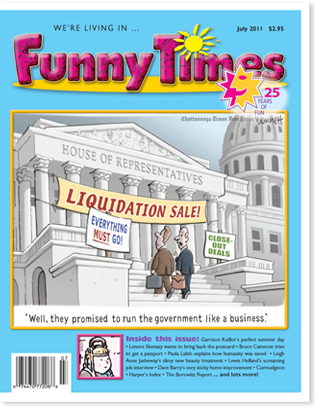 Funny Times July 2011 Issue Cover