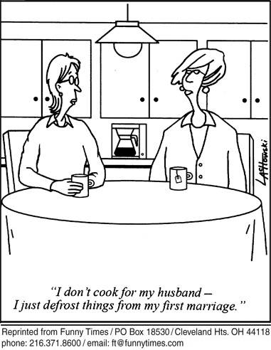 Funny food plan marriage  cartoon, August 17, 2011