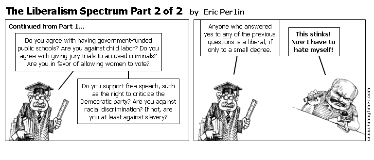The Liberalism Spectrum Part 2 of 2 by Eric Per1in