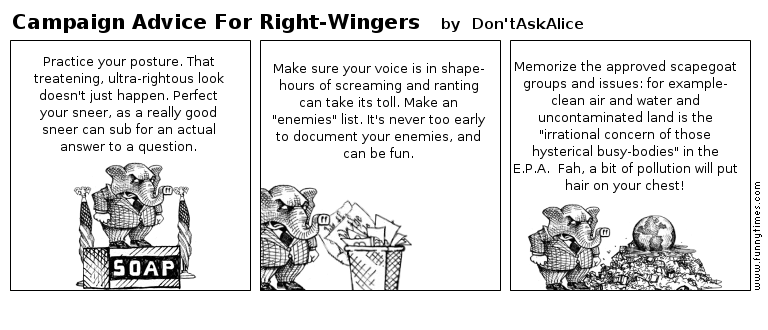 Campaign Advice For Right-Wingers by Don'tAskAlice
